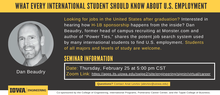 What Every International Student Should Know About U.S. Employment promotional image