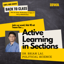 Active learning in Sections (CIRTL Back to Class Series)  promotional image