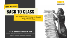 CIRTL Back to Class Series: Grading Tools in ICON promotional image