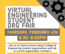 Virtual Engineering Student Organization Fair  promotional image