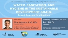 Water, Sanitation, and Hygiene in the Sustainable Development Goals: Current Status and New Directions with Rick Johnston promotional image